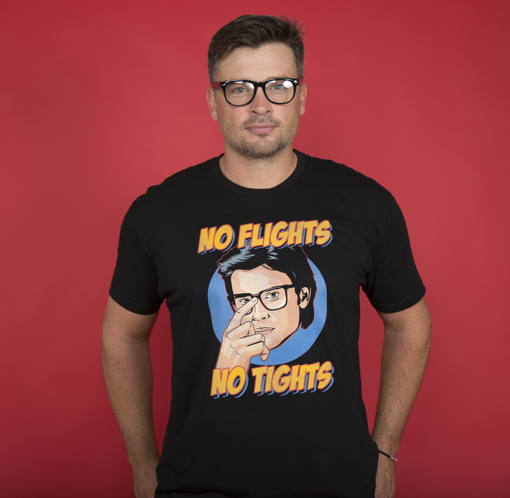e907ad8078f73 No Flights, No Tights Tom Welling's Charity Campaign Tee