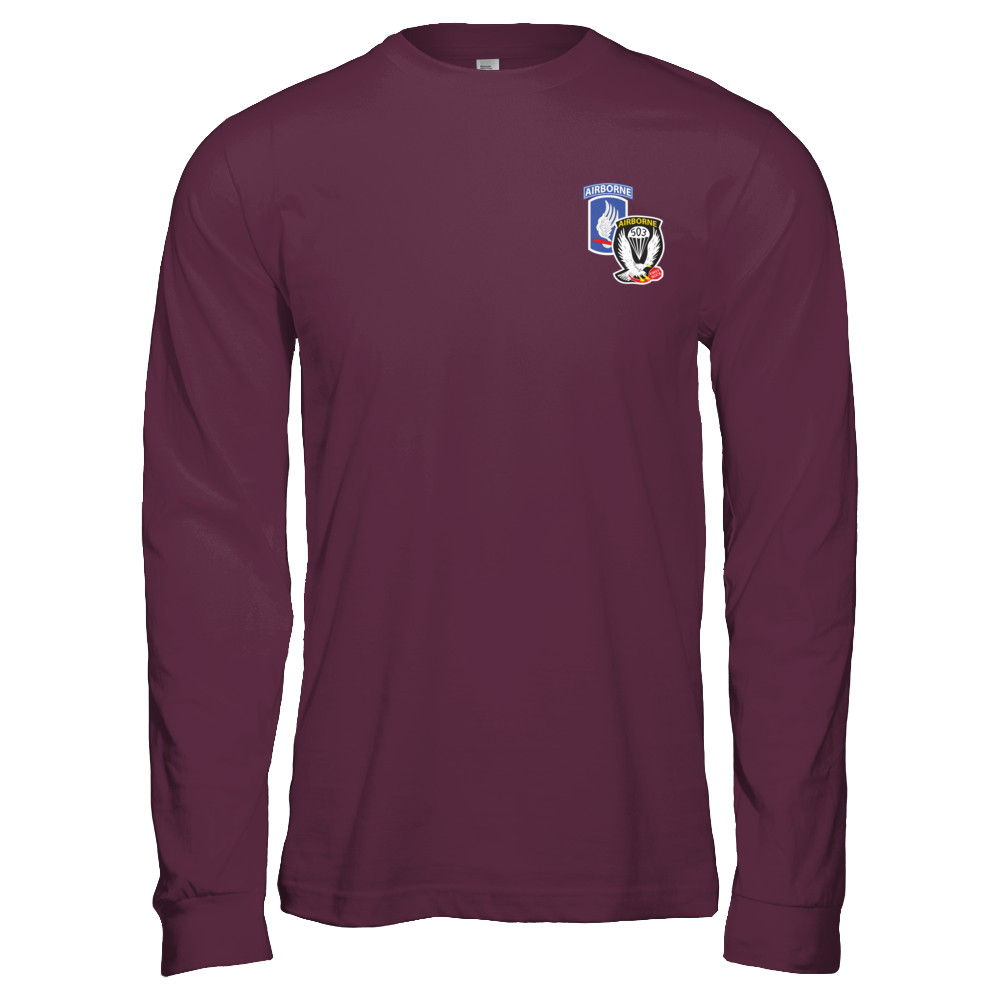 1-503rd Infantry LONG SLEEVE PT SHIRT