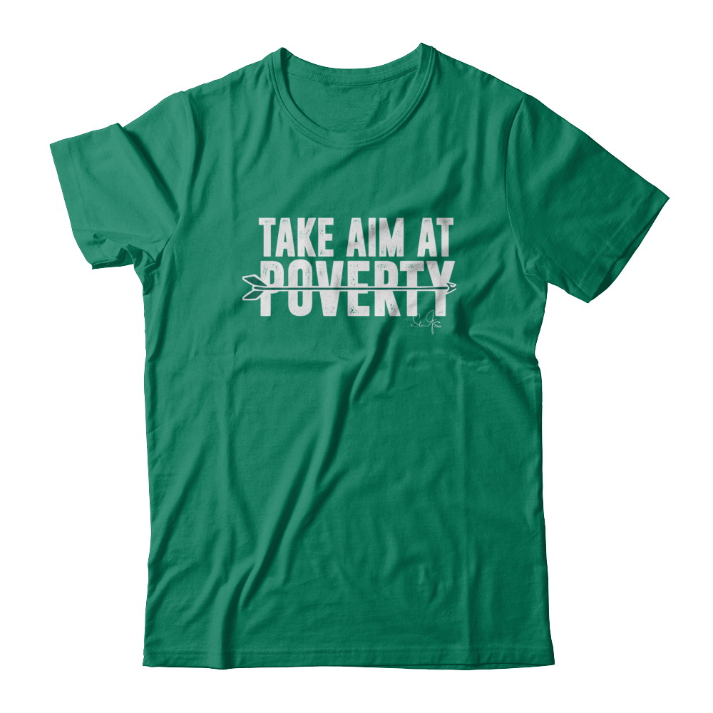"""Sean Maguire's """"Take Aim At Poverty"""" Tee"""