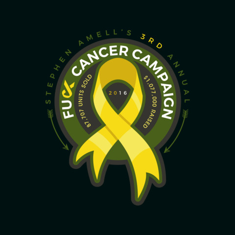 Stephen Amell's 3rd Annual F*ck Cancer Tee