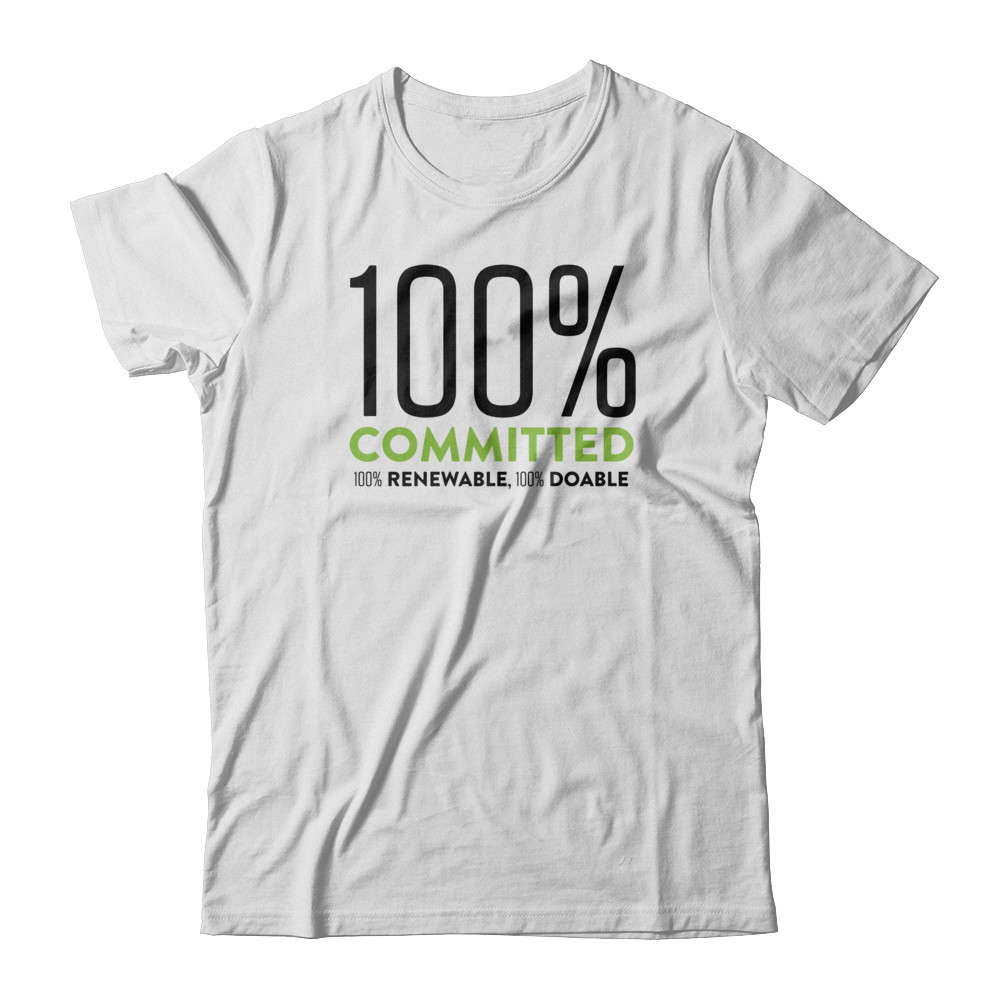 100% Committed 100% Renewable Tshirt