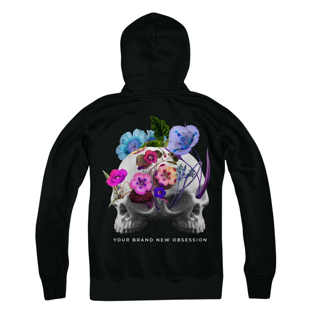 YOUR BRAND NEW OBSESSION FLORAL SKELETON HOODIE