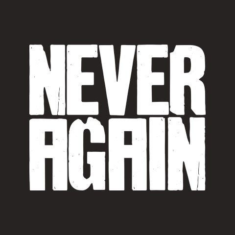 Never Again >> The Never Again Movement Official Charity Tee Represent