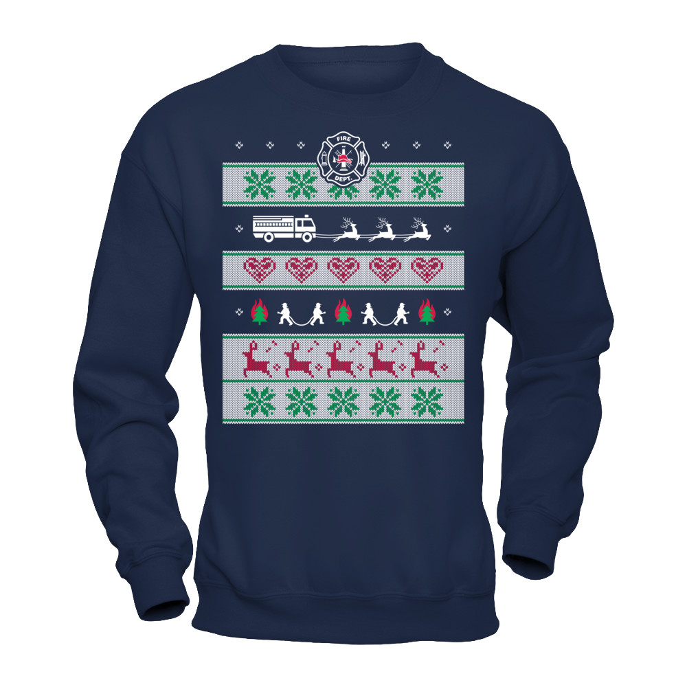 FIREFIGHTER UGLY CHRISTMAS SWEATER | Represent