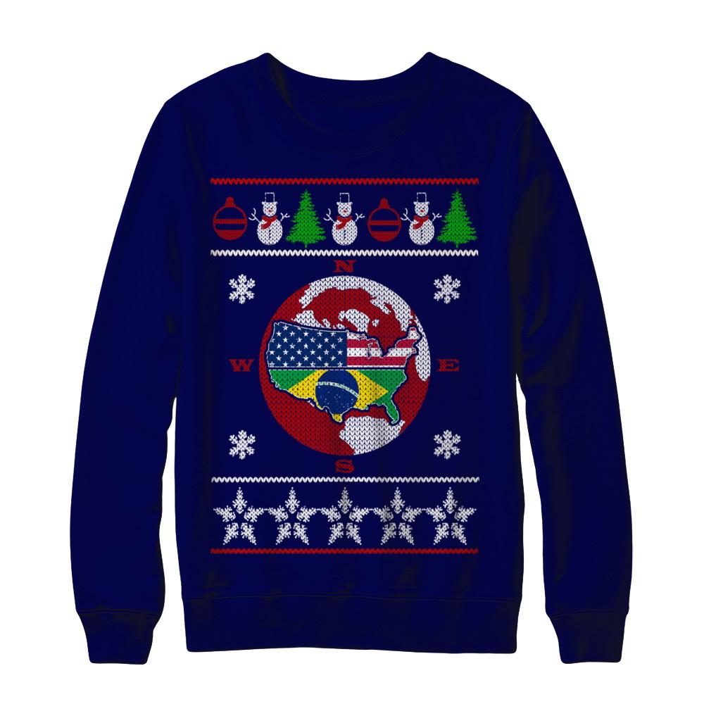 Ugly Christmas Sweater - BRAZIL - USA