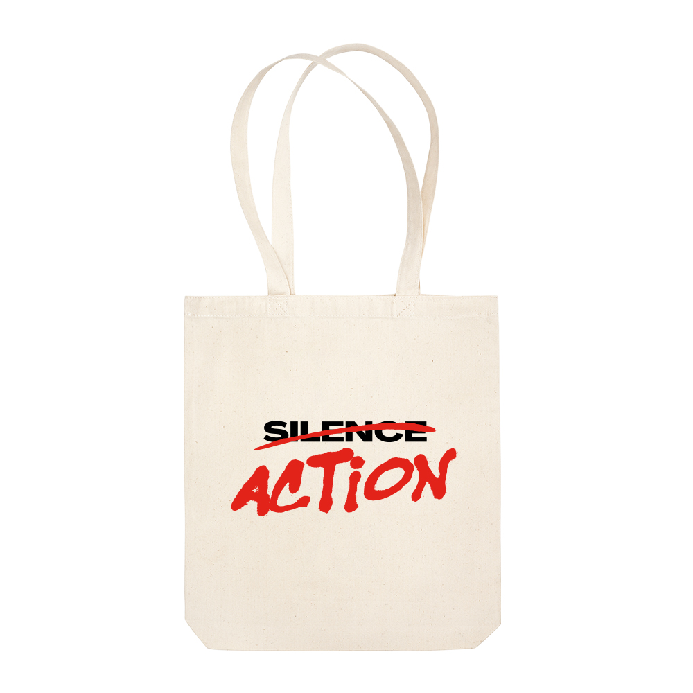 Action Over Silence Tote