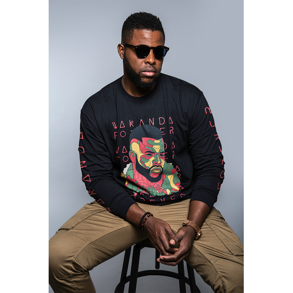 "Winston Duke BLACK PANTHER ""Wakanda Forever"" Tee"