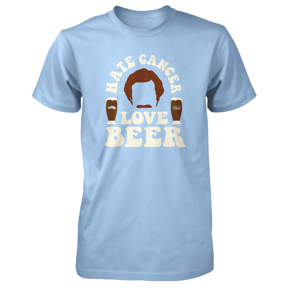 """Will Ferrell """"Hate Cancer Love Beer"""" Merch"""