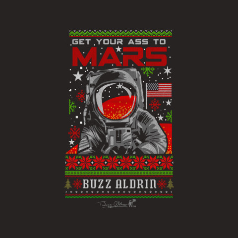 Official Buzz Aldrin Holiday Sweater