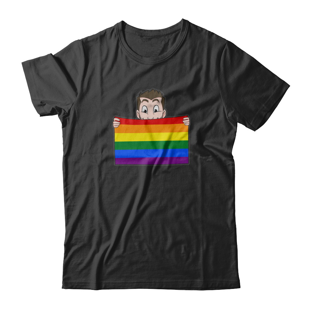 Short Sleeve (U) - Pride Flag w/ Brand