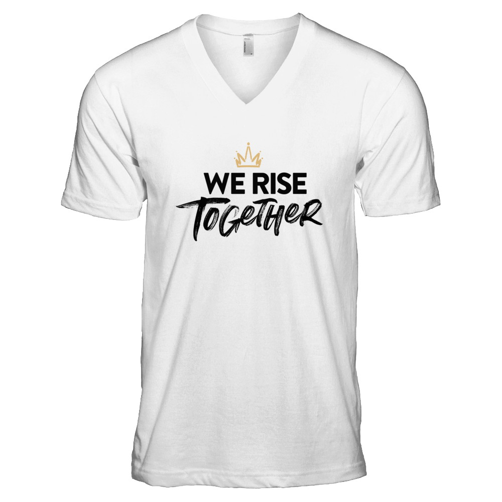 WE RISE TOGETHER – CLASSIC WHT V-NECK