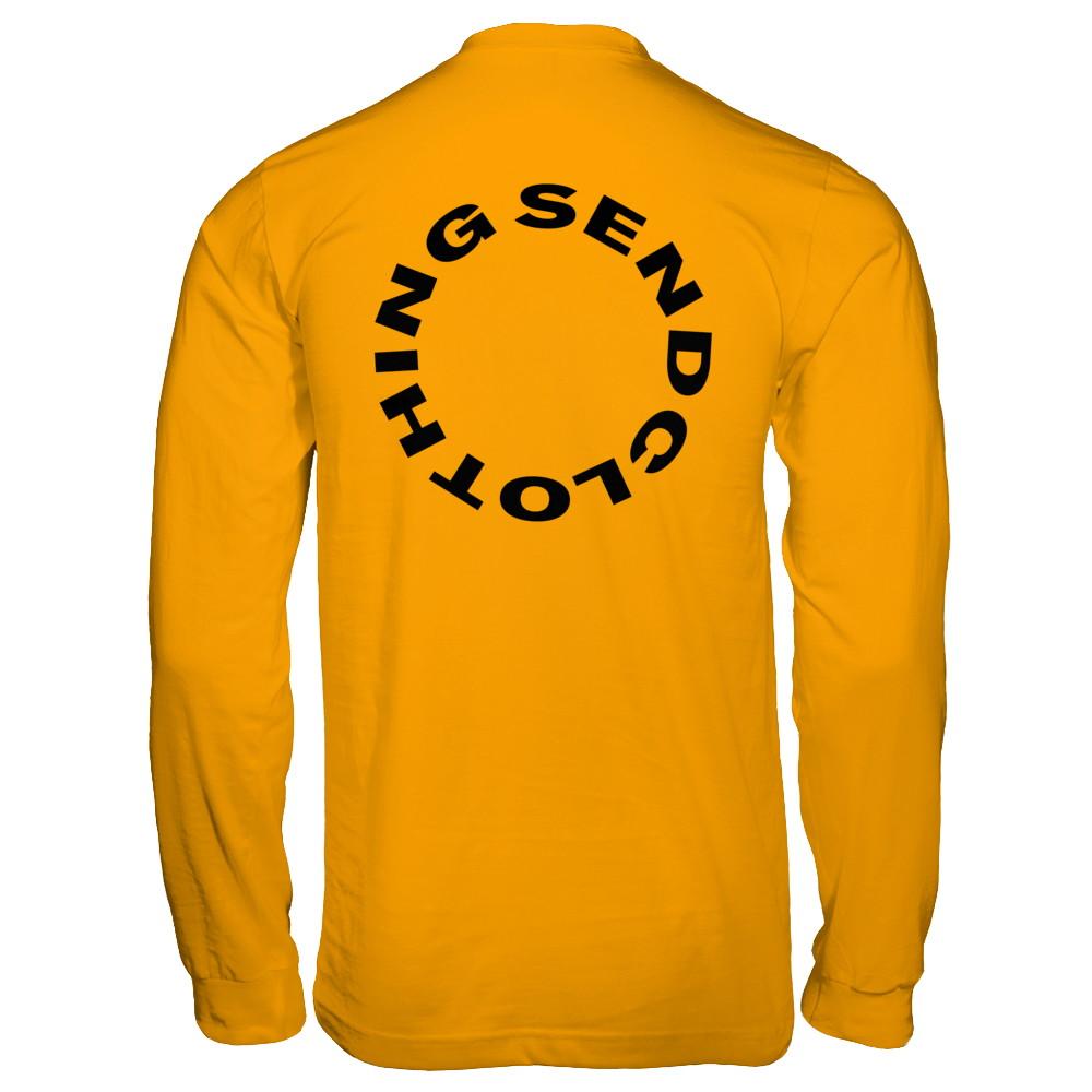 """SEND CLOTHING"" Long Sleeve Shirt - YELLOW"