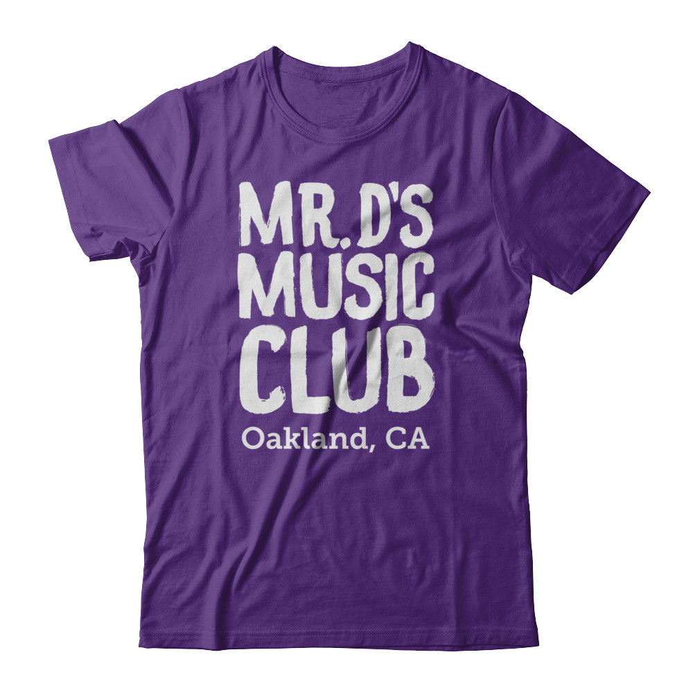 *ADULT SIZES* Mr. D's Music Shirts (white)