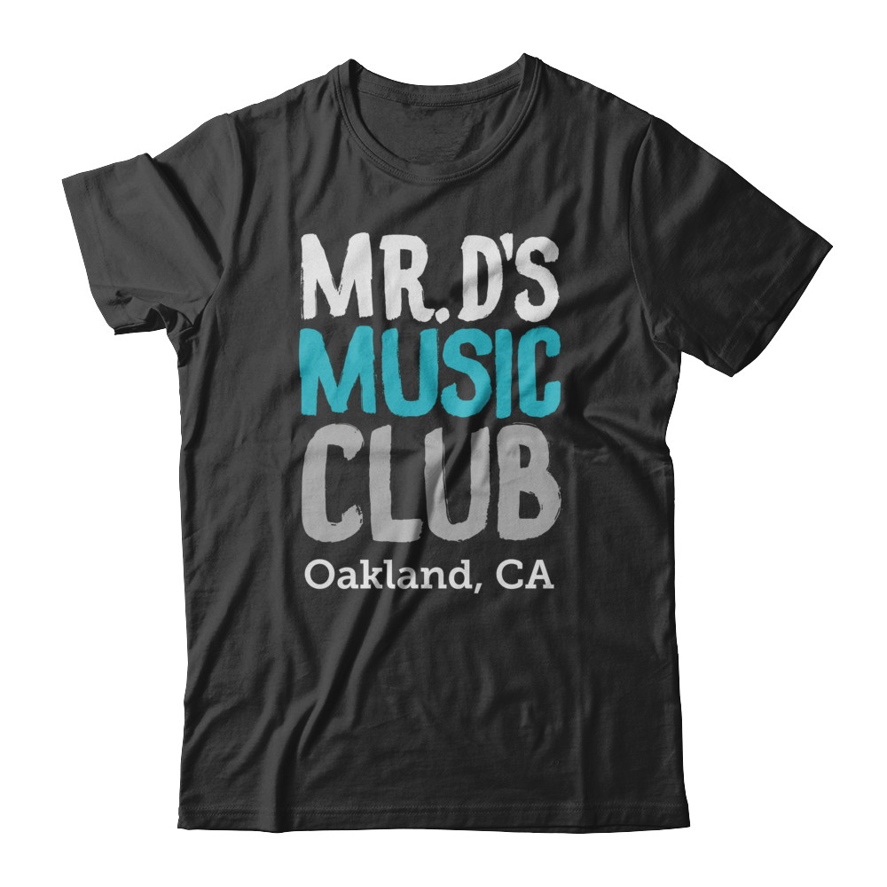 *ADULT SIZES* Mr. D's Music Shirt (blue/grey)