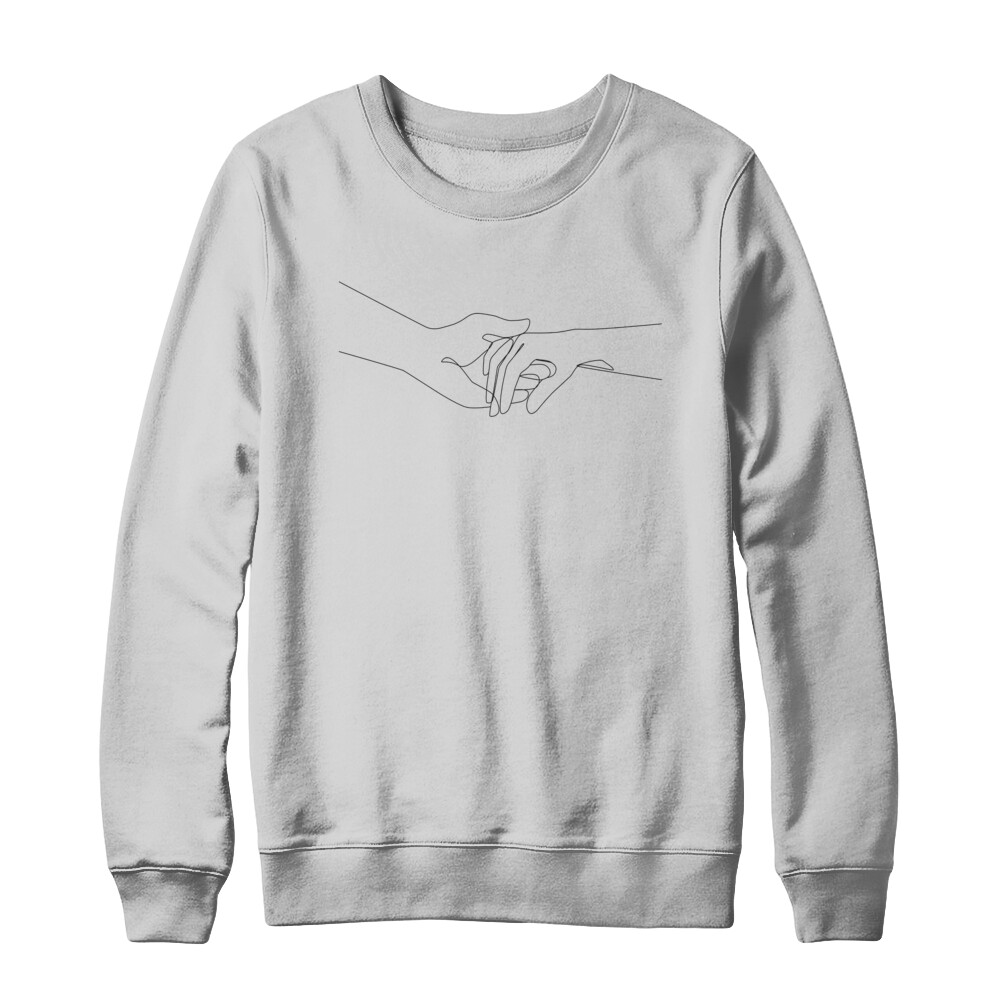 Abstract Holding Hands SMILE Crewneck