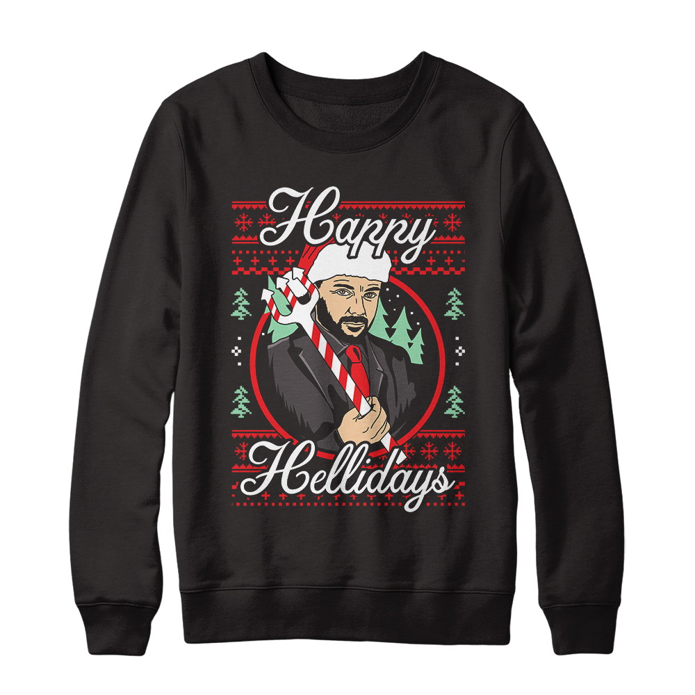 Mark Sheppard's Happy Hellidays Collection Black Gildan Pullover Sweatshirt