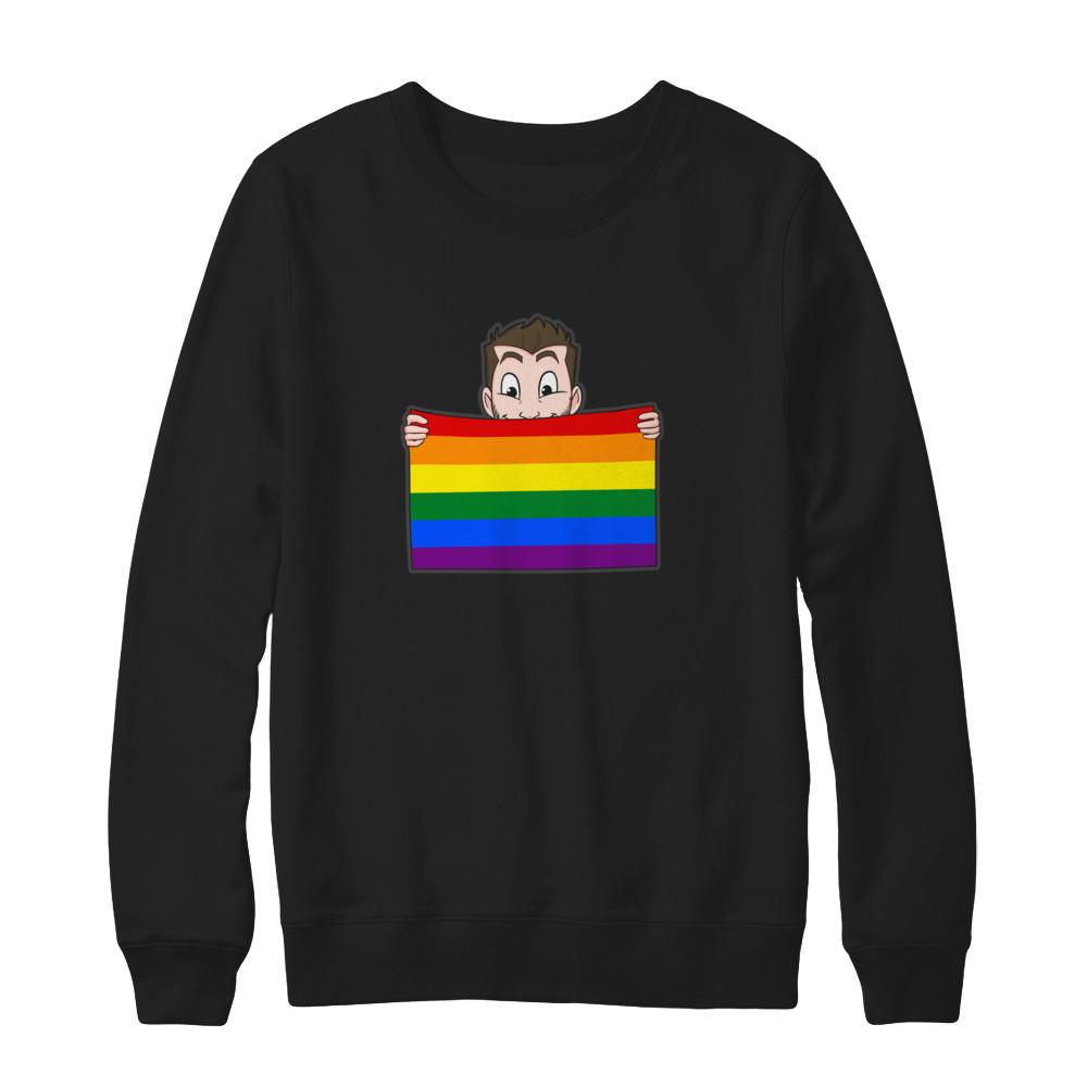 Warm Long Sleeve - Pride Flag w/ Brand
