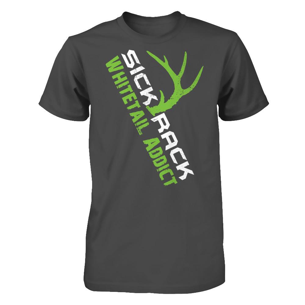 Sick Rack Whitetail Addict T-Shirt Green