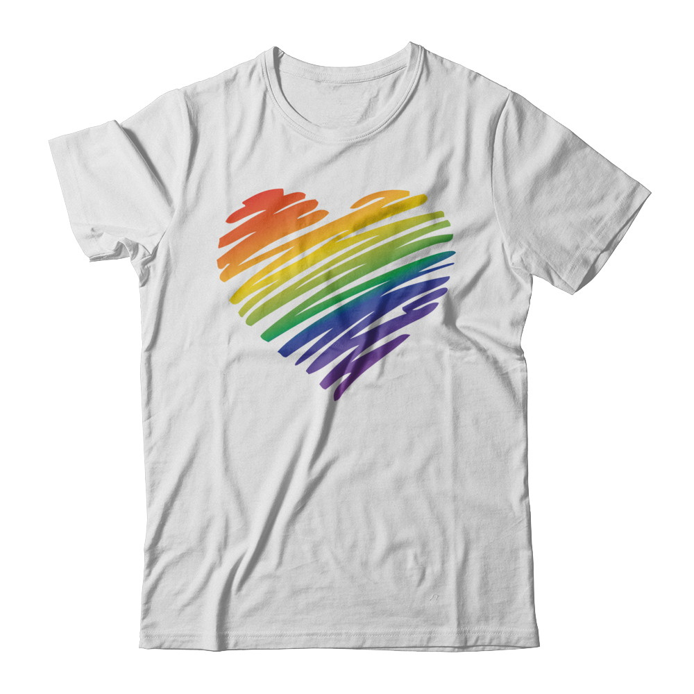 Allure Photo| Pride Scribble Heart T-shirt