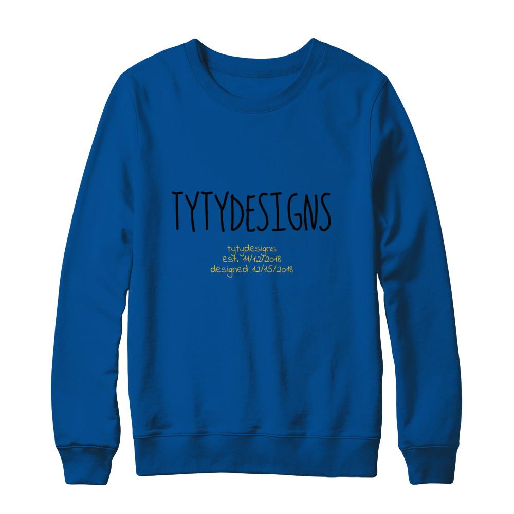tytydesigns Blue Indie Sweatshirt