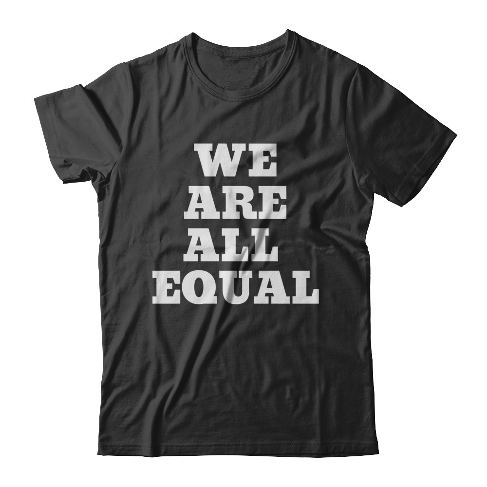 """SMILE """"WE ARE ALL EQUAL"""" TEE"""