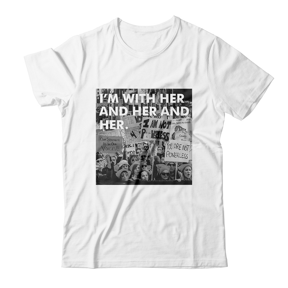 "Women's History Month ""I'm With Her"" Apparel"