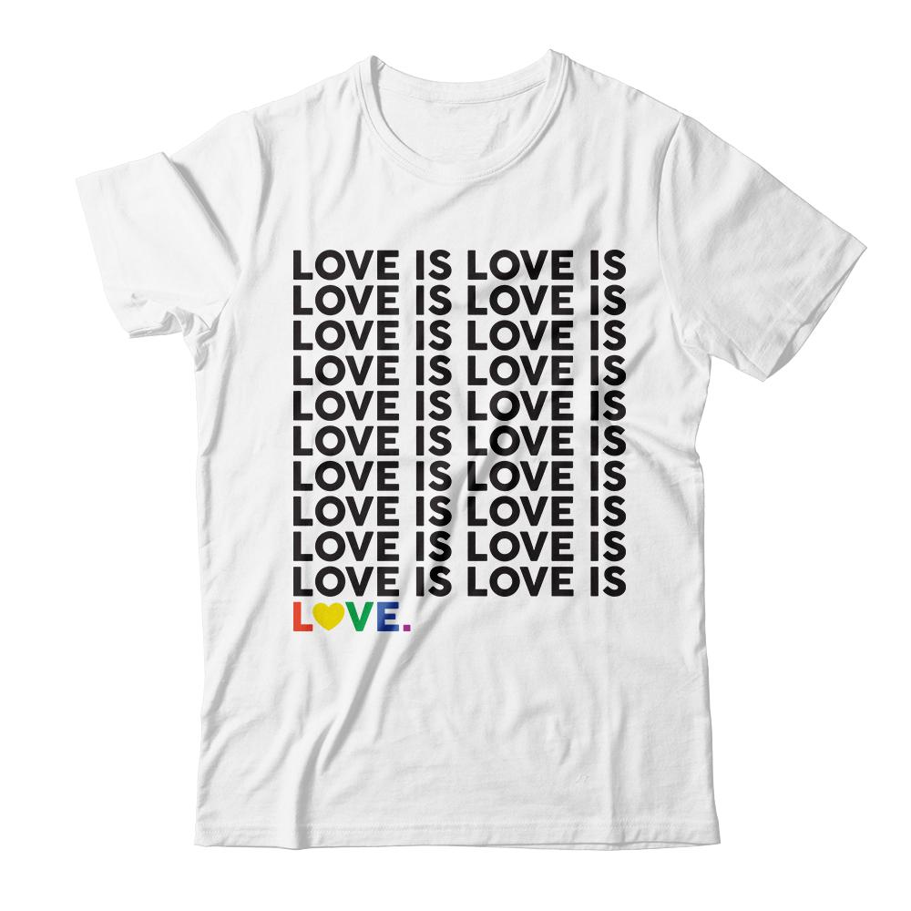 Represent Pride | Love Is Love Is Love Tee