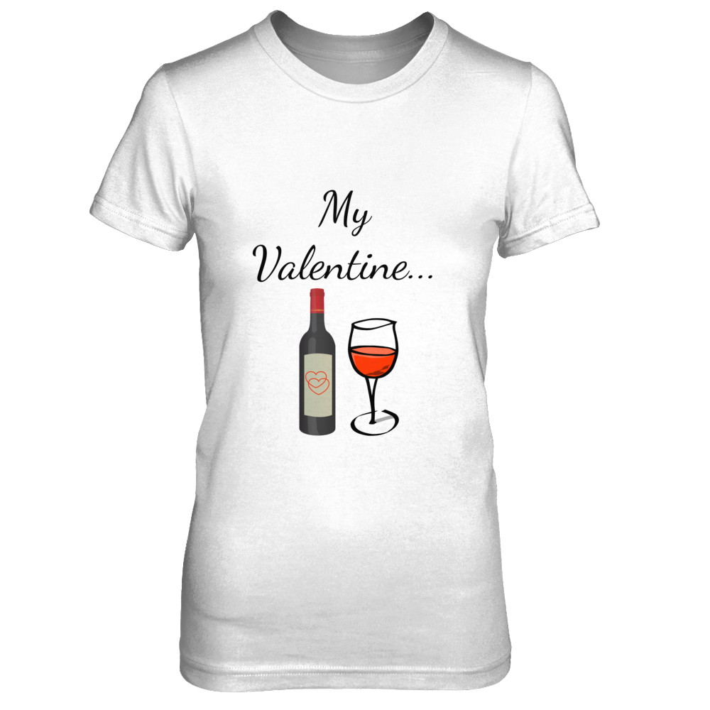 Womens My Valentine / Wine Tee