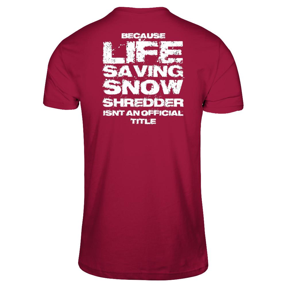 SKI PATROL SNOW SHREDDER