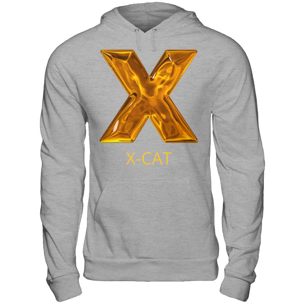 x-cat sporty grey hoodie