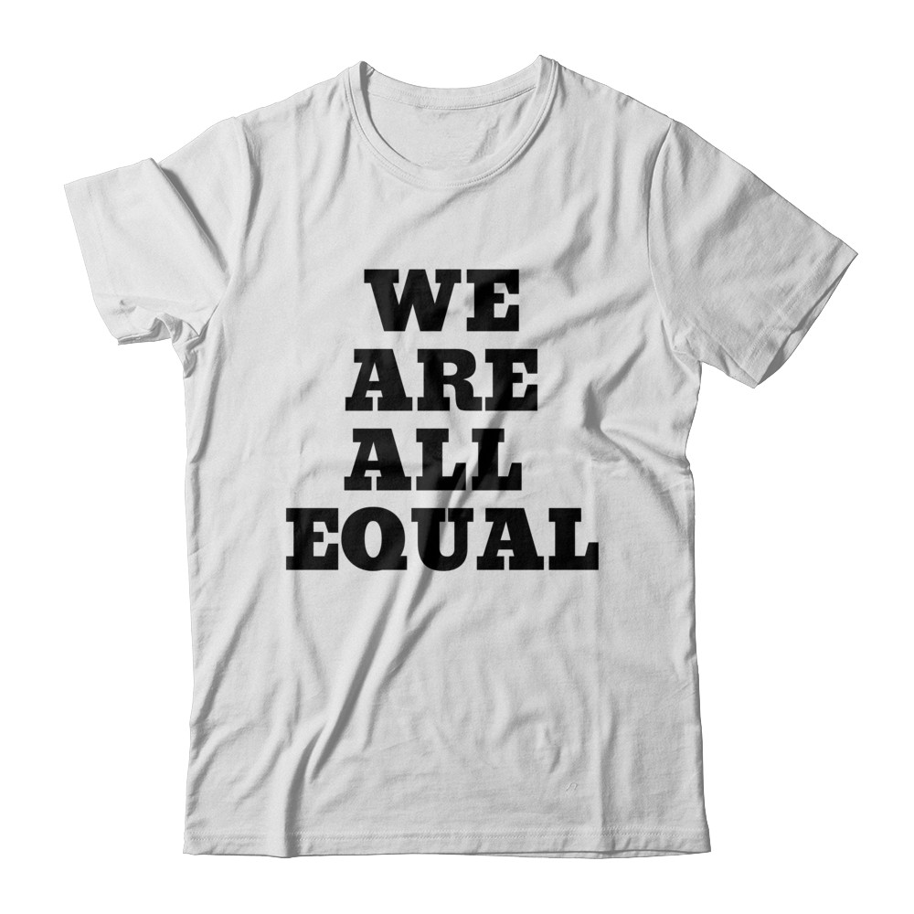 """SMILE Unisex """"WE ARE ALL EQUAL"""" Tee"""