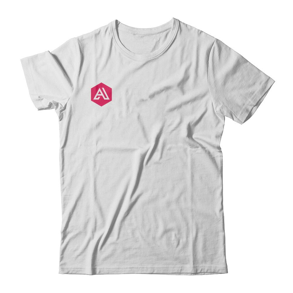 Academlo - Camisa blanca o gris, Logo rojo V7