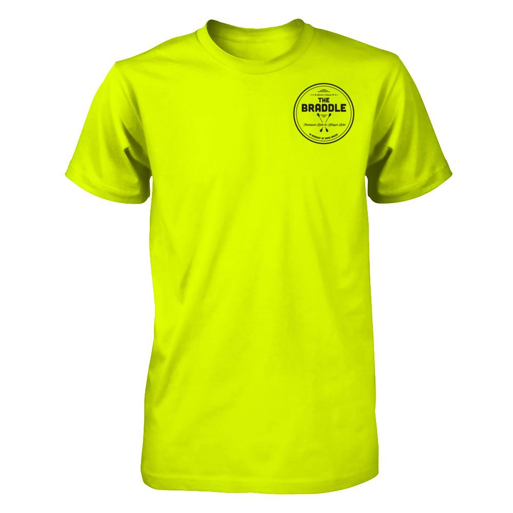 the BRADDLE unisex highlighter t-shirt
