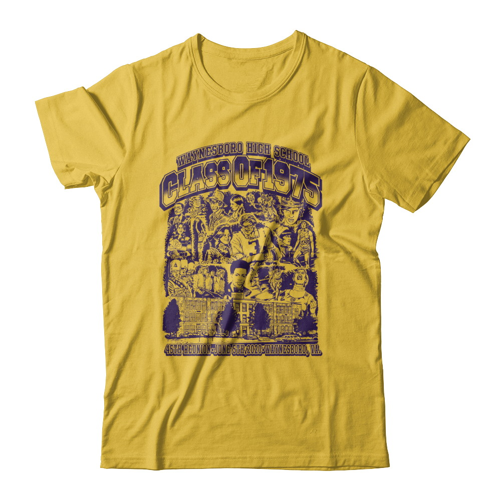 WHS Class Of '75 T-shirt by Tom Arvis (GoldTee)