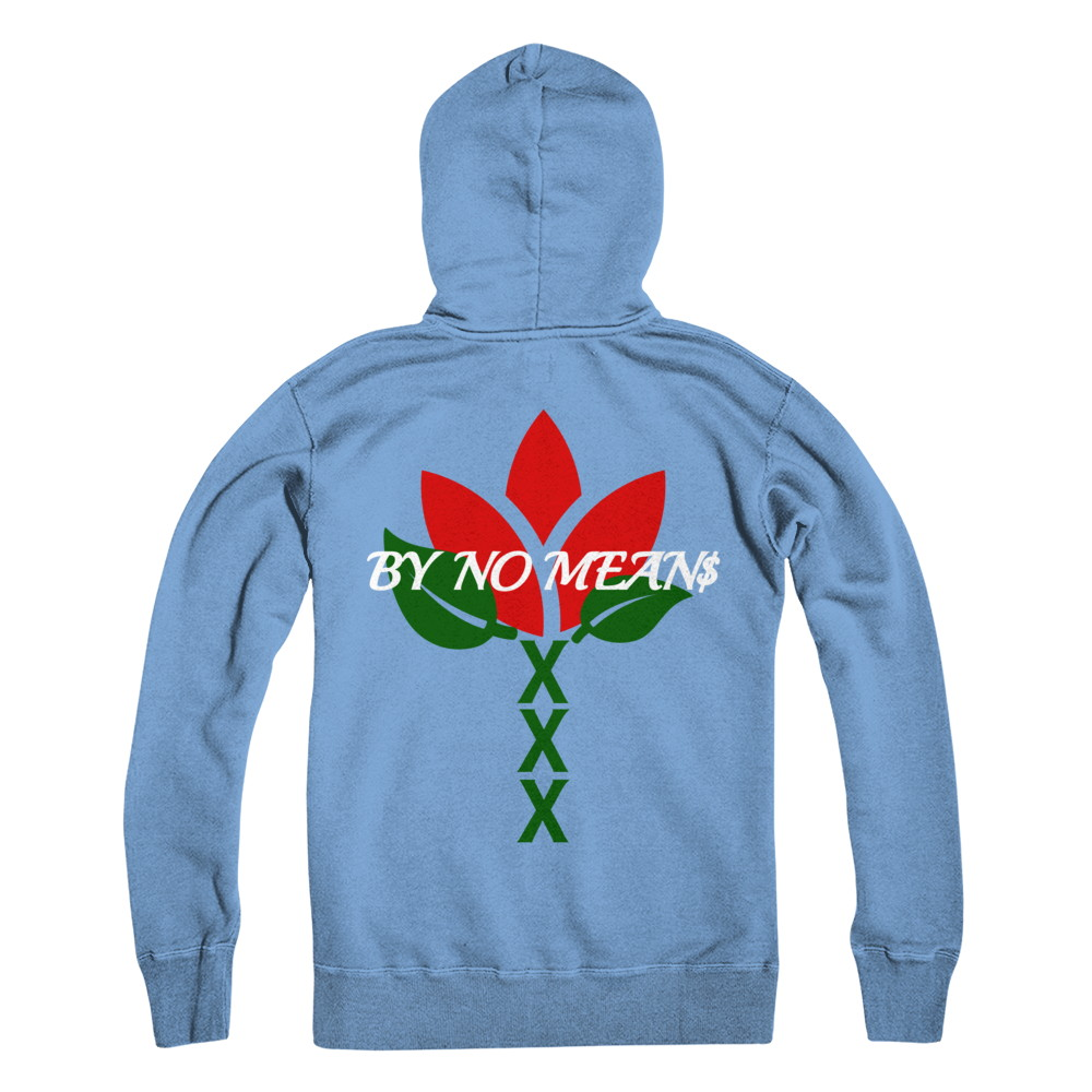 blue rose hoodie sample