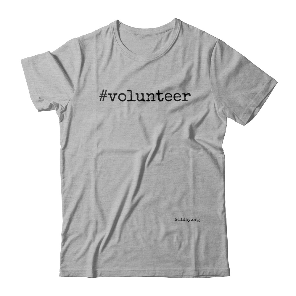 #volunteer 9/11 t-shirt (black lettering)
