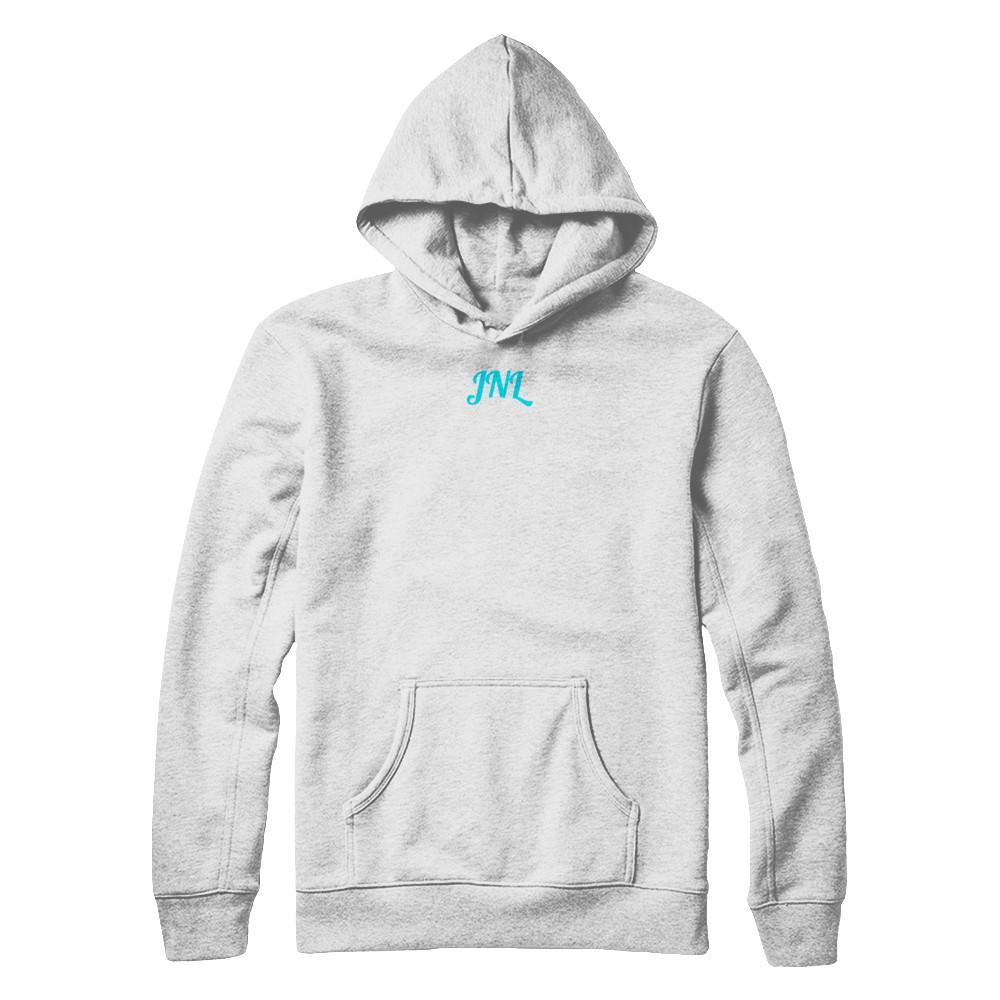 Blue ice white hoodie
