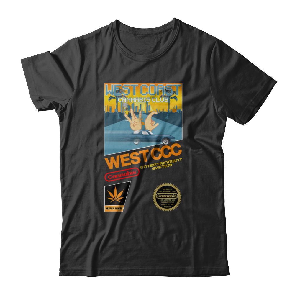 8-bit Retro WEST COAST NES Shirt