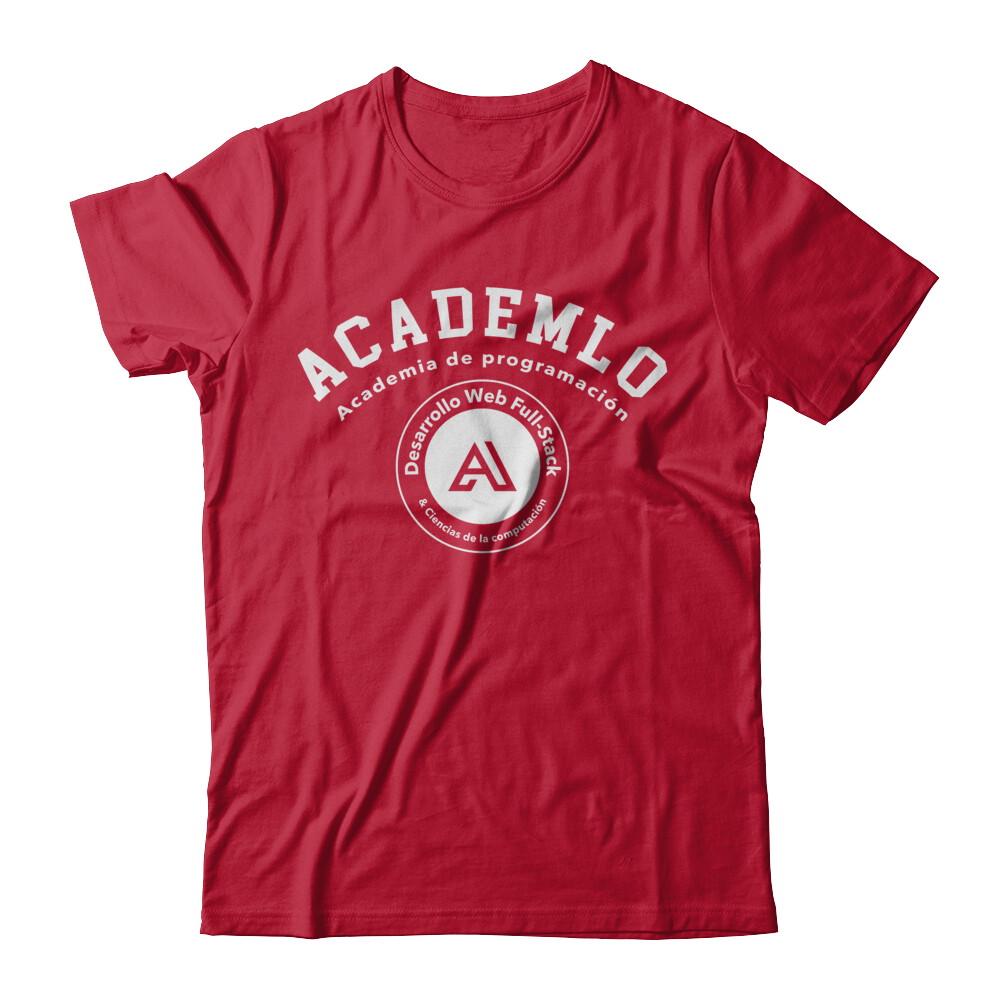 Academlo - Camisa roja o negra, Logo blanco V1