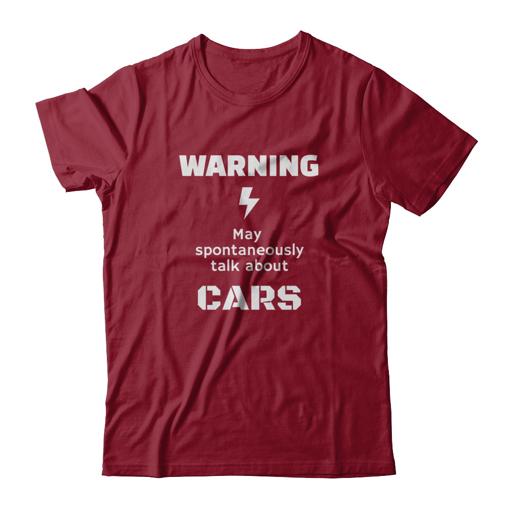Warning! May spontaneously talk about cars