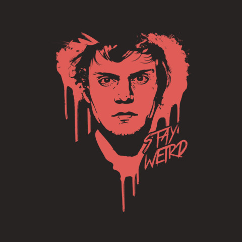 """Official Evan Peters """"Stay Weird"""" Tee"""