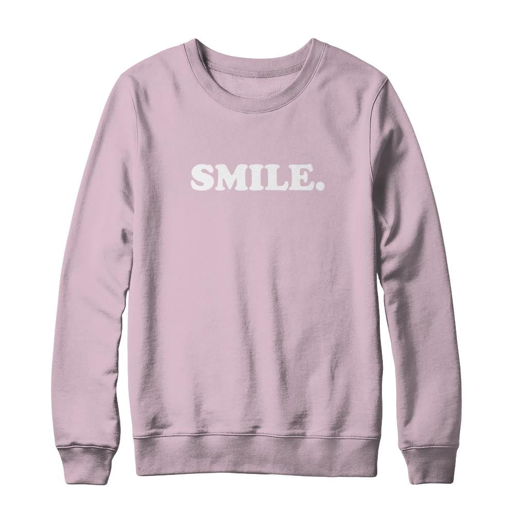 SMILE Light Pink Crewneck